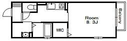 ストリーム八幡[2階]の間取り