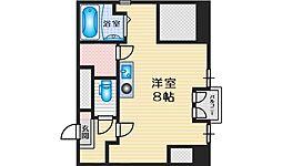 ヴァンルノワール新御堂 8階1Kの間取り