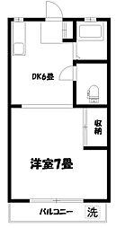 第16島田マンション[2階]の間取り