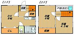 [テラスハウス] 兵庫県神戸市長田区高取山町2丁目 の賃貸【/】の間取り