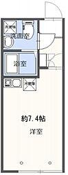 LiLi TAKAIDO 1階ワンルームの間取り