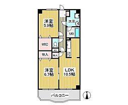 東京都西東京市芝久保町4丁目の賃貸マンションの間取り