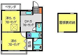 神奈川県横浜市南区永田北1丁目の賃貸アパートの間取り
