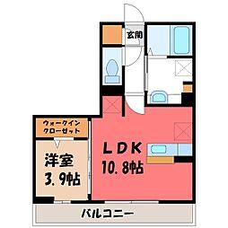 チェルボ 3階1LDKの間取り