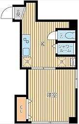 東京都港区三田3丁目の賃貸マンションの間取り