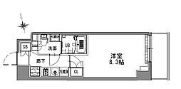 S-RESIDENCE浅草 5階1Kの間取り