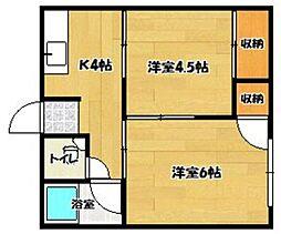 しらうお荘 B棟[1階]の間取り