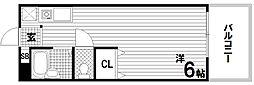 エステートピア板宿[1階]の間取り