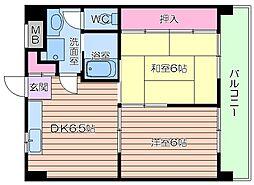 ICマンション[6階]の間取り