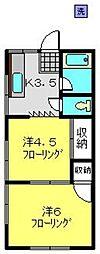 和光ハウス[101号室]の間取り