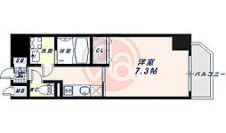JR大阪環状線 寺田町駅 徒歩6分の賃貸マンション 13階1Kの間取り