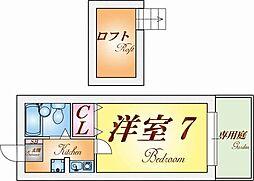ラ・メール板宿[1階]の間取り