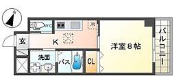 泉北高速鉄道 和泉中央駅 徒歩7分の賃貸マンション 5階1Kの間取り