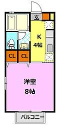 D-room SスクエアII[1階]の間取り