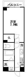 東武野田線 新鎌ヶ谷駅 徒歩5分の賃貸マンション 8階1Kの間取り