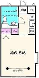 駒沢ハイツ 2階1Kの間取り