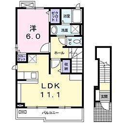 ベルハーモニーA[2階]の間取り
