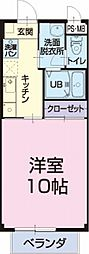 JR東海道本線 金谷駅 11.3kmの賃貸アパート 1階1Kの間取り