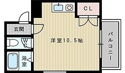 シャンティJKK1[2階]の間取り