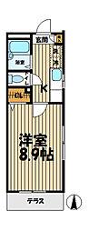 神奈川県鎌倉市大船2丁目の賃貸マンションの間取り