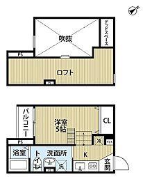 南海高野線 堺東駅 徒歩17分の賃貸アパート 1階ワンルームの間取り
