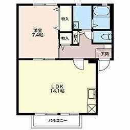 新潟県燕市佐渡の賃貸アパートの間取り