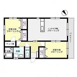 Pet−com南福岡II[2階]の間取り