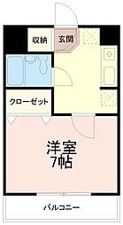 リバーサイド辰巳[6階]の間取り