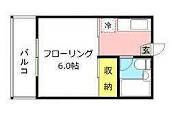 サンシャイン大塚[201号室]の間取り
