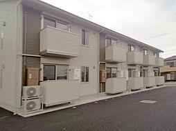 茨城県古河市駒羽根の賃貸アパートの外観