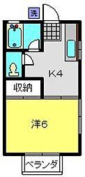 神奈川県横浜市南区中島町4丁目の賃貸アパートの間取り