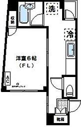 神奈川県川崎市高津区二子5丁目の賃貸マンションの間取り
