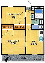 モンテクレーセ C[2階]の間取り