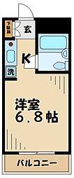 トラスティ永山[110号室]の間取り