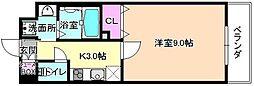 仮称)伊加賀東町PJ 4階1Kの間取り