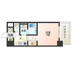 阪神なんば線 九条駅 徒歩9分の賃貸マンション 12階1Kの間取り