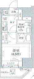 ルフレプレミアム川崎 3階1Kの間取り
