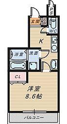 シャルム・堺[10階]の間取り