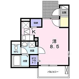 神奈川県川崎市多摩区菅城下の賃貸アパートの間取り