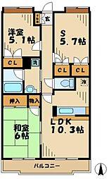 神奈川県川崎市麻生区黒川の賃貸マンションの間取り