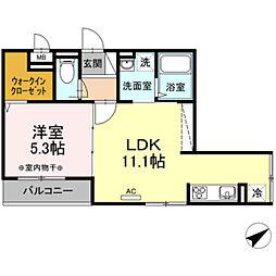 仮)D-Room鎌倉台[2階]の間取り