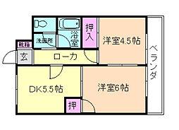 ハイツN・Y[4階]の間取り