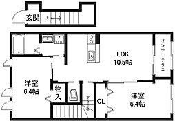 仮称)守山市小島町新築アパート[2階]の間取り