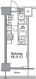 東京メトロ東西線 九段下駅 徒歩3分の賃貸マンション 9階ワンルームの間取り