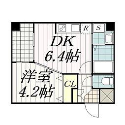 千葉県千葉市中央区本町1丁目の賃貸マンションの間取り