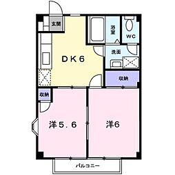 ビューレインボー[2階]の間取り