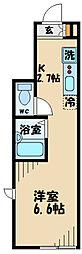 小田急小田原線 経堂駅 徒歩10分の賃貸アパート 1階1Kの間取り