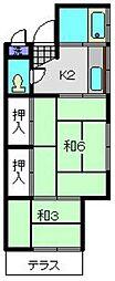 長谷川荘[103号室]の間取り