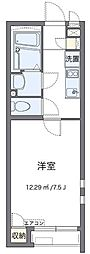 JR武蔵野線 北朝霞駅 徒歩15分の賃貸アパート 1階1Kの間取り
