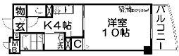 大阪府寝屋川市松屋町の賃貸マンションの間取り